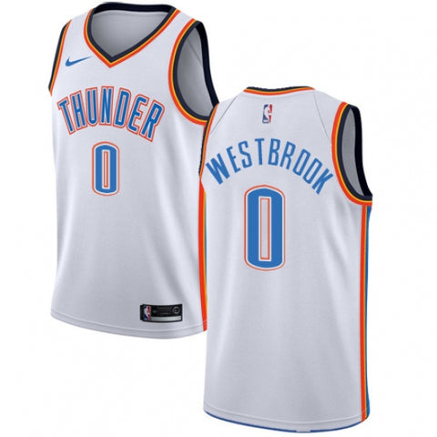 Nike Men's Oklahoma City Thunder Russell Westbrook Jersey Association White - Fan Gear Nation