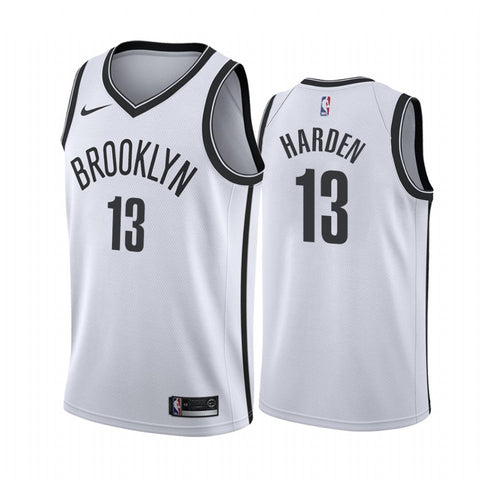 Mens Brooklyn Nets James Harden Association Jersey White - Fan Gear Nation
