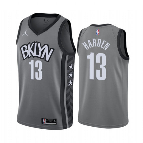 Mens Brooklyn Nets James Harden Statement Jersey Gray - Fan Gear Nation