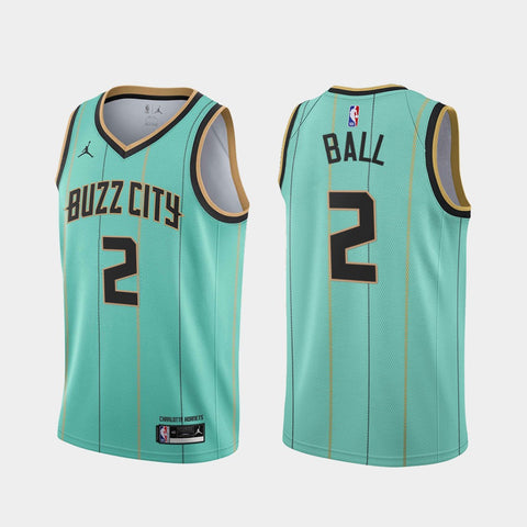 Mens Charlotte Hornets LaMelo Ball City Jersey Teal - Fan Gear Nation