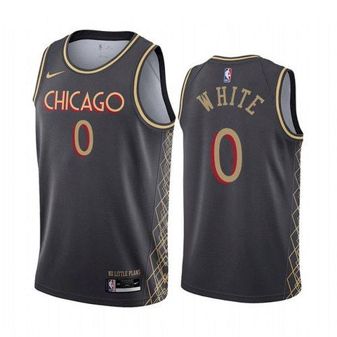 Mens Chicago Bulls Coby White City Jersey Black - Fan Gear Nation