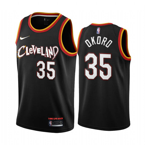 Mens Cleveland Cavaliers Isaac Okoro City Jersey Black - Fan Gear Nation