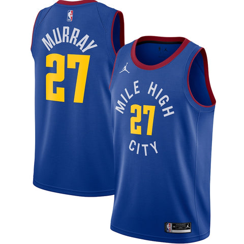 Mens Denver Nuggets Jamal Murray Statement Jersey Blue - Fan Gear Nation