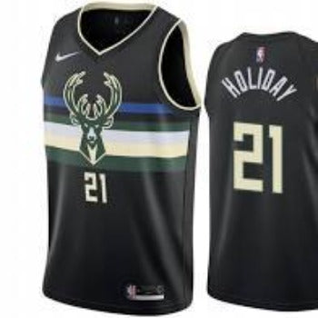 Mens Milwaukee Bucks Jrue Holiday Statement Jersey Black - Fan Gear Nation