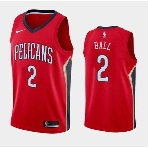 Mens New Orleans Pelicans Lonzo Ball Statement Jersey Red - Fan Gear Nation