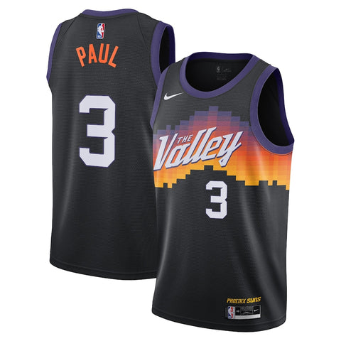 Mens Phoenix Suns Chris Paul City Jersey Black