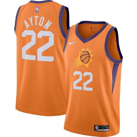 Mens Phoenix Suns DeAndre Ayton Statement Jersey Orange