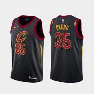 Mens Cleveland Cavaliers Isaac Okoro Icon Jersey Black - Fan Gear Nation