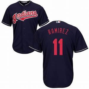 Mens Cleveland Indians Jose Ramirez Cool Base Replica Jersey Black - Fan Gear Nation