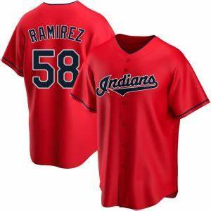 Mens Cleveland Indians Jose Ramirez Cool Base Replica Jersey Red - Fan Gear Nation