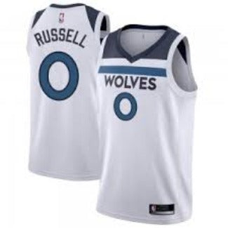 Mens Minnesota Timberwolves D'Angelo Russell Association Jersey White - Fan Gear Nation