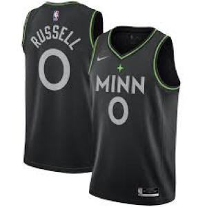 Mens Minnesota Timberwolves D'Angelo Russell City Edition Jersey Black - Fan Gear Nation