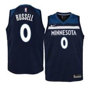 Mens Minnesota Timberwolves D'Angelo Russell Icon Jersey Navy - Fan Gear Nation