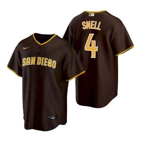 Mens San Diego Padres Blake Snell Cool Base Replica Jersey Brown - Fan Gear Nation
