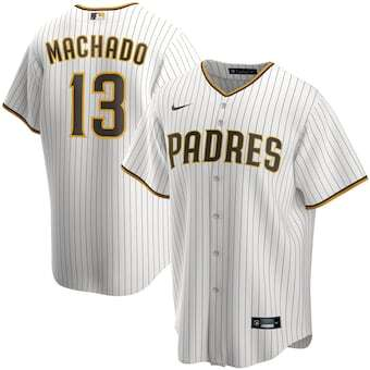 Mens San Diego Padres Manny Machado Cool Base Replica Jersey White - Fan Gear Nation