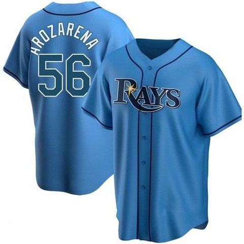 Mens Tampa Bay Rays Randy Arozarena Cool Base Replica Jersey Light Blue - Fan Gear Nation