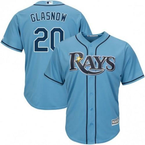 Mens Tampa Bay Rays Tyler Glasnow Cool Base Replica Jersey Light Blue - Fan Gear Nation