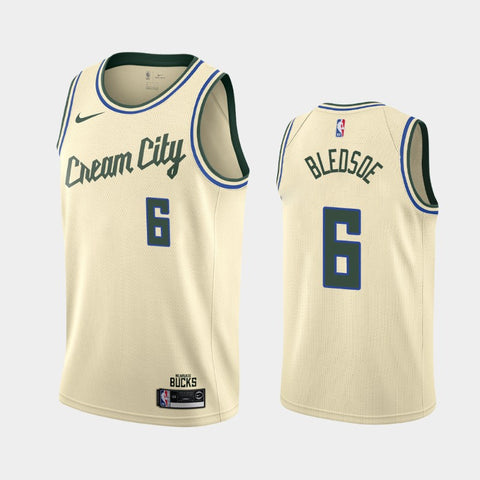 Nike Men's Milwaukee Bucks Eric Bledsoe Cream City Edition Jersey Cream - Fan Gear Nation