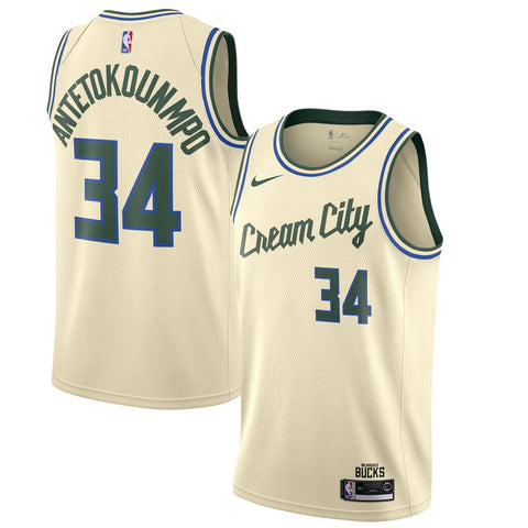 Men's Milwaukee Bucks Giannis Antetokounmpo Cream City Icon Jersey - Fan Gear Nation