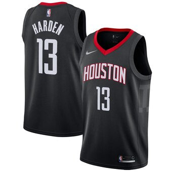 Men's Houston Rockets James Harden Statement Edition Jersey Black - Fan Gear Nation