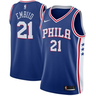 Nike Men's Philadelphia 76ers Joel Embiid City Edition Jersey Cream - Fan Gear Nation
