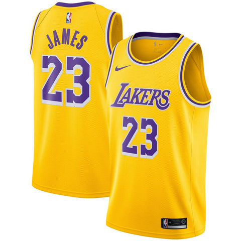 Men's Los Angeles Lakers Lebron James Icon Edition Jersey Gold - Fan Gear Nation
