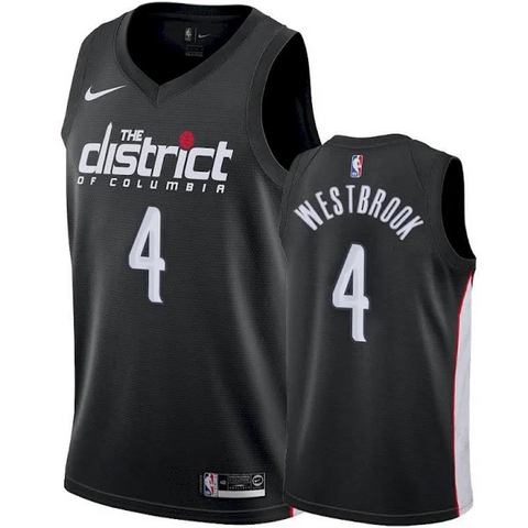 Men's Washington Wizards Russell Westbrook City Edition Jersey Black - Fan Gear Nation