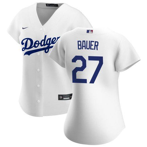 Women's Los Angeles Dodgers Trevor Bauer Cool Base Jersey White - Fan Gear Nation