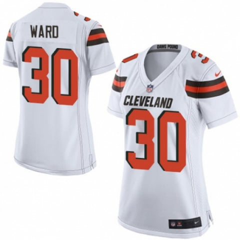 Nike Women's Cleveland Browns Denzel Ward Game Jersey White - Fan Gear Nation
