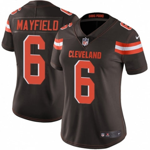 Nike Women's Cleveland Browns Baker Mayfield Limited Player Jersey Brown - Fan Gear Nation
