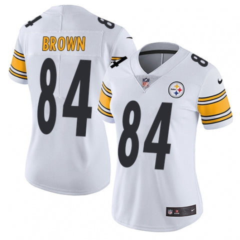 Nike Women's Pittsburgh Steelers Antonio Brown Limited Player Jersey White - Fan Gear Nation