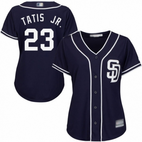 Womens San Diego Padres Fernando Tatis Jr. Navy Blue Alternate Cool Base Baseball Jersey - Fan Gear Nation