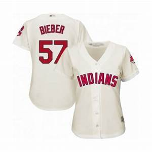 Womens Cleveland Indians Shane Bieber Cool Base Replica Jersey White - Fan Gear Nation