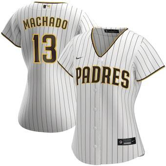 Womens San Diego Padres Manny Machado Cool Base Replica Jersey White - Fan Gear Nation