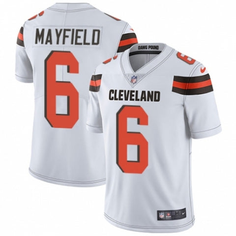 Nike Youth Cleveland Browns Baker Mayfield Limited Player Jersey White - Fan Gear Nation