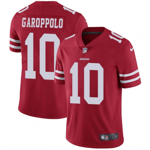 Nike Youth San Francisco 49ers Jimmy Garoppolo Limited Player Jersey Red - Fan Gear Nation