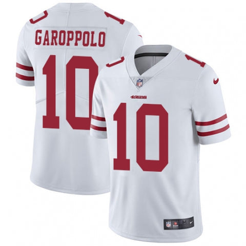 Nike Youth San Francisco 49ers Jimmy Garoppolo Limited Player Jersey White - Fan Gear Nation
