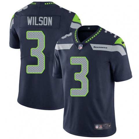Nike Youth Seattle Seahawks Russell Wilson Limited Player NFL Jersey Steel Blue