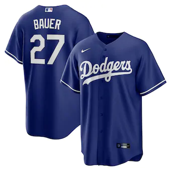 Youth Los Angeles Dodgers Trevor Bauer Cool Base Jersey Royal Blue - Fan Gear Nation