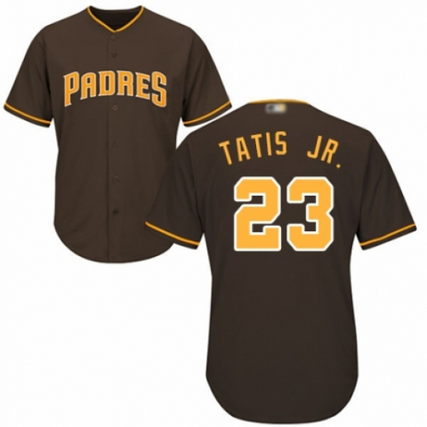 Youth San Diego Padres Fernando Tatis Jr. Replica Brown Alternate Cool Base Jersey - Fan Gear Nation