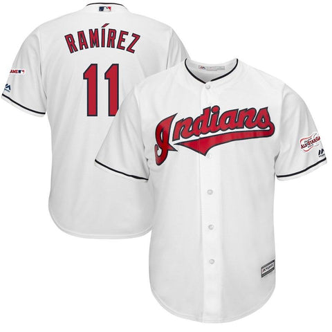 Youth Cleveland Indians Jose Ramirez Cool Base Replica Jersey White - Fan Gear Nation