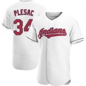 Youth Cleveland Indians Zach Plesac Cool Base Replica Jersey White - Fan Gear Nation