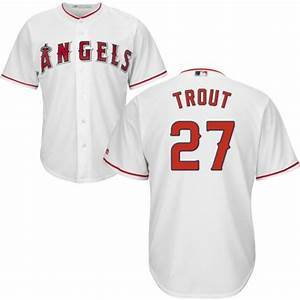 Youth Los Angeles Angels  Mike Trout Cool Base Replica Jersey White - Fan Gear Nation