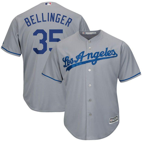 Youth Los Angeles Dodgers Cody Bellinger Cool Base Replica Jersey Grey - Fan Gear Nation