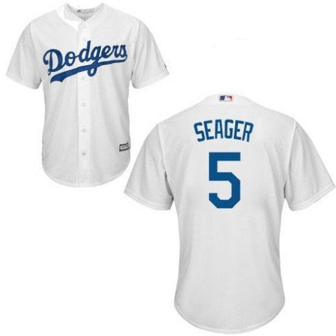 Youth Los Angeles Dodgers Corey Seager Cool Base Replica Jersey White - Fan Gear Nation