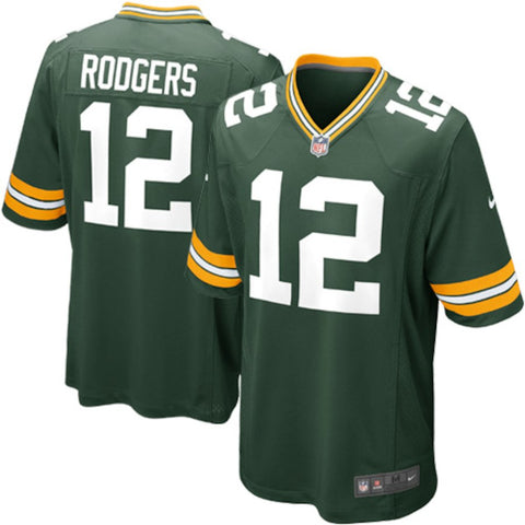 Nike Men's Green Bay Packers Aaron Rodgers Game Jersey Green - Fan Gear Nation