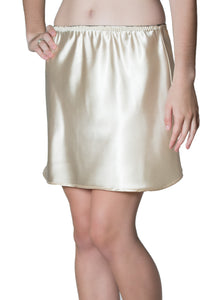 13-inch Satin Beige Short Half Slip [Black elastic was $38]