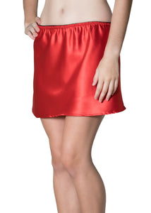 Red Satin Half Slip