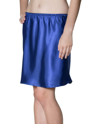 Blue Satin Half Slip