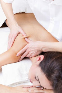 Massaging in Lymphatic Drainage system